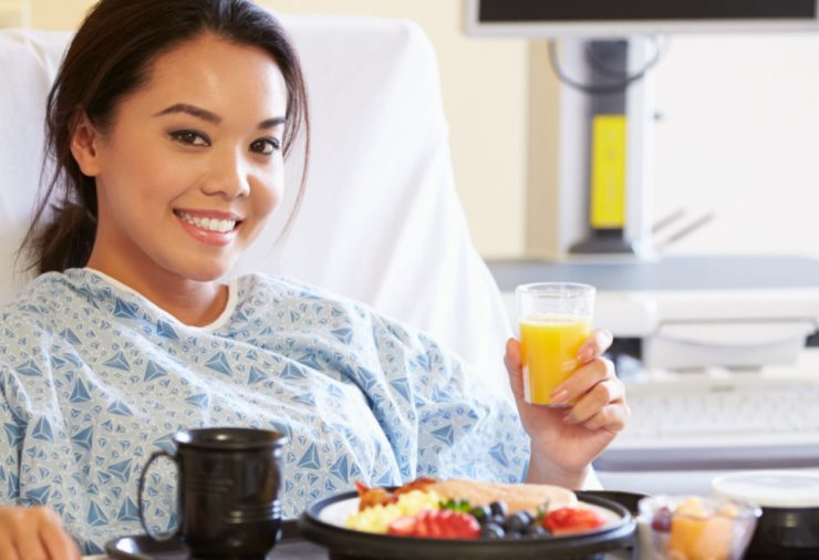 Patient Eating Hospital Meal