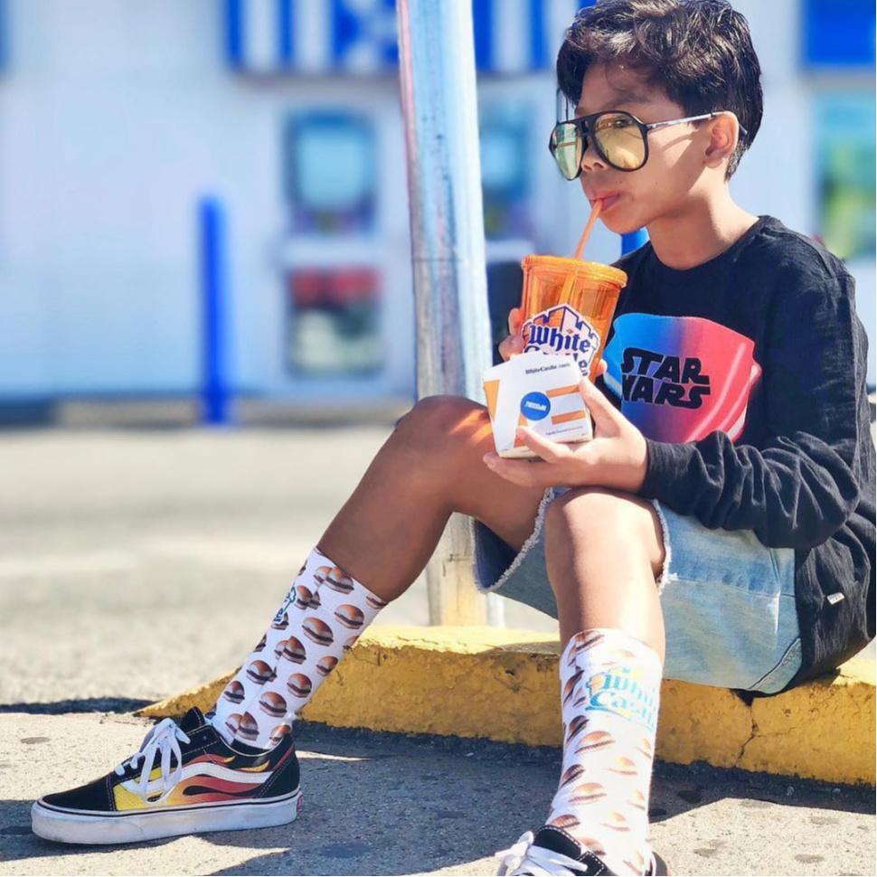 Kid Eating White Castle
