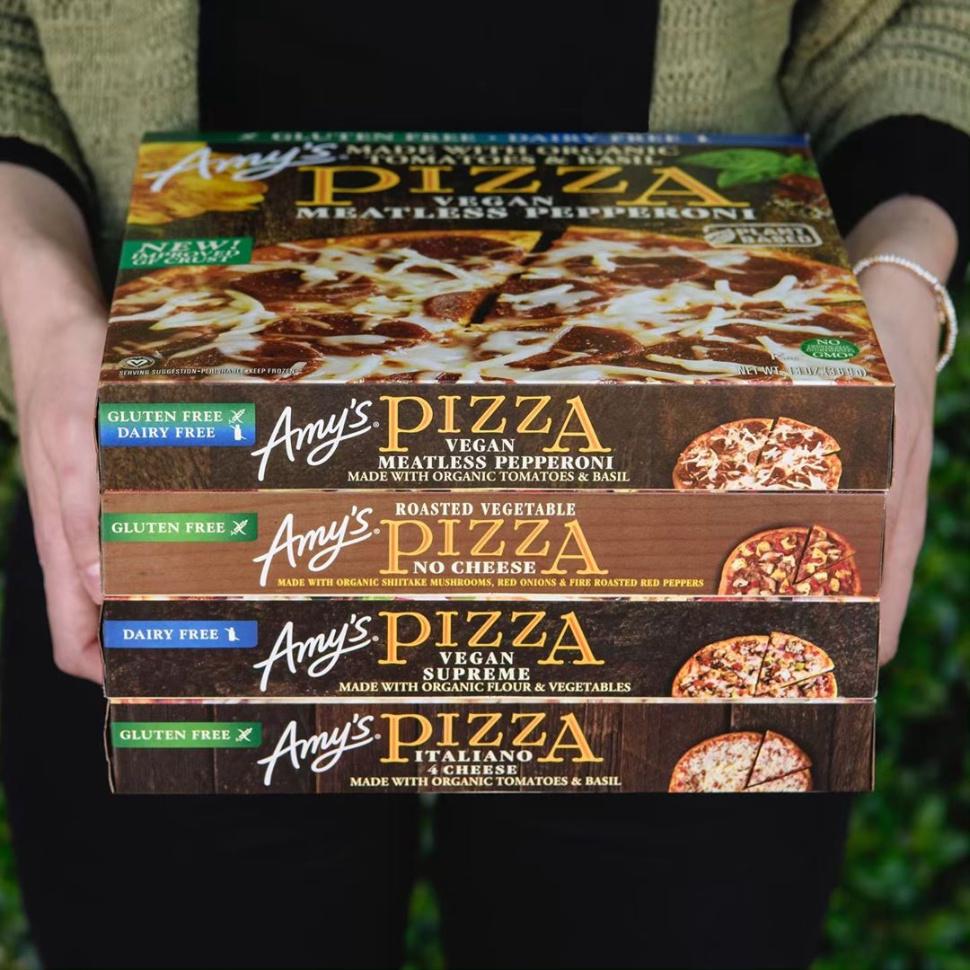 Amys New Vegan Pizzas